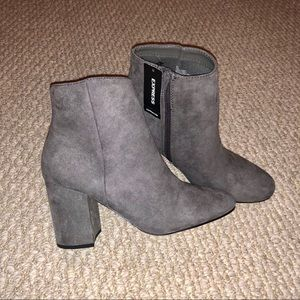 Express Gray Suede Boots! BRAND NEW!!
